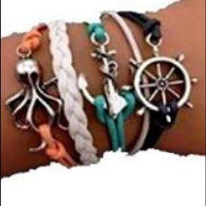 Jewelry - 🐙 Women's Nautical Leather Bracelet